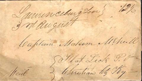 1834 Letter