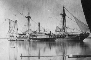 USS Mississippi in 1863